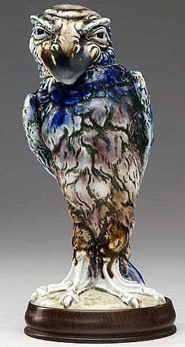 MARTIN BROTHERS Grotesque bird stoneware jar. Base - by Rago Arts and Auction Center