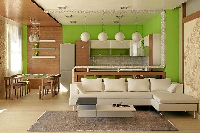 Кухня-гостиная в частном доме - популярные идеи интерьера и планировки