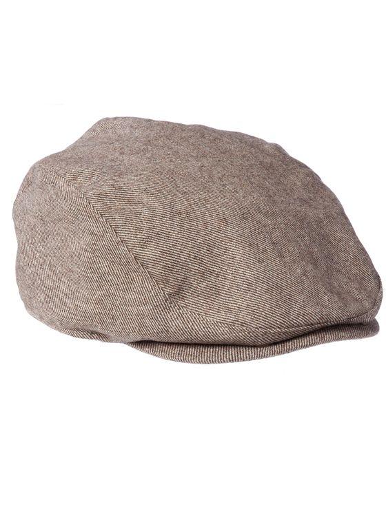 THE CUTTER- Brown Woollen Flat-Cap