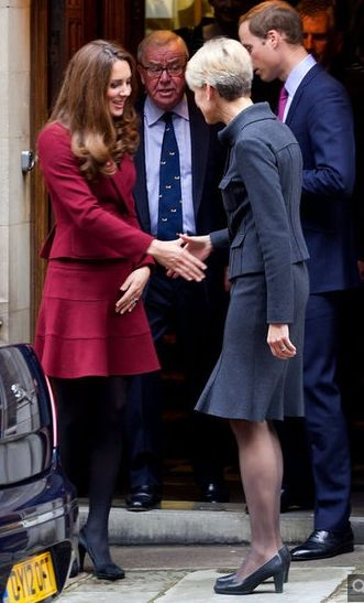 Prince William and Catherine, Duke and Duchess of Cambridge arriving at Middle Temple for launch of barrister scholarship in their names. October 8, 2012.