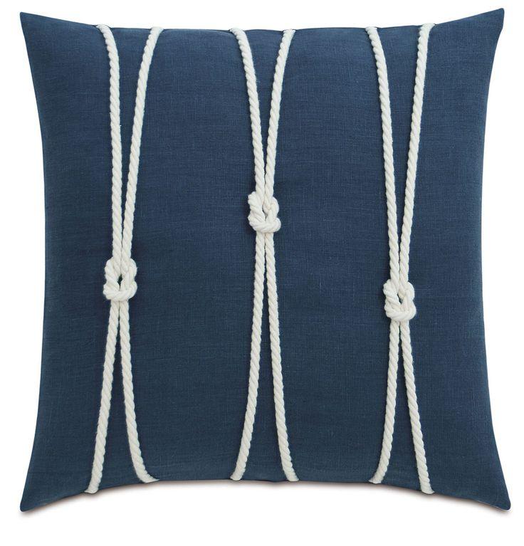 Yacht Knots Linen Throw Pillow
