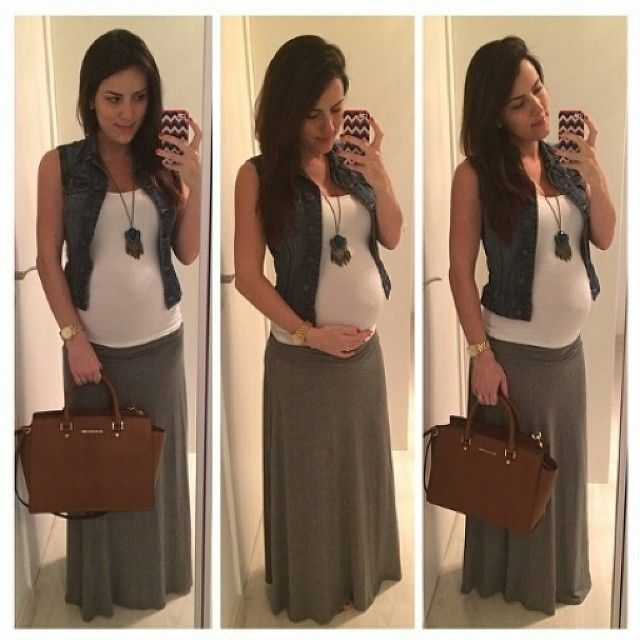 long skirt+neutral top +jacket.  Maybe scarf for fall?  Again...can I pull off the long skirt in winter/spring?