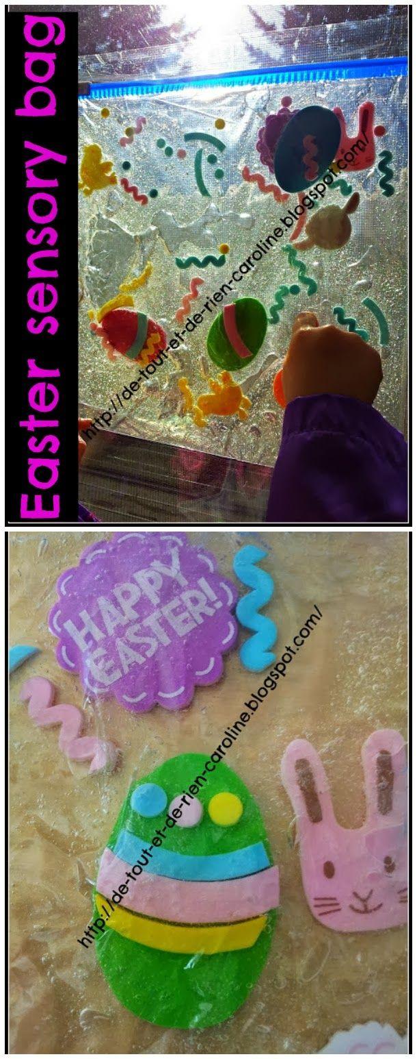 Easter sensory bag.
