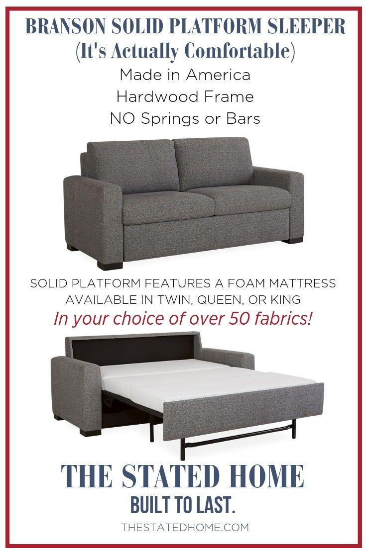 Branson Solid Platform Foam Mattress Sleeper Sofa Sleeper Sofa American Furniture Foam Mattress