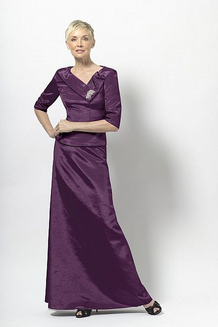 Plum dress for mother of the groom.