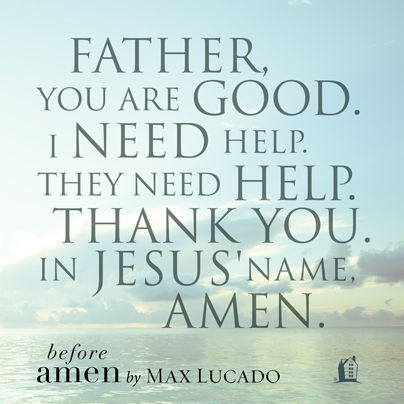 The Pocket Prayer from Before Amen by Max Lucado