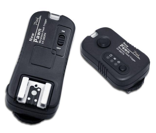 Pixel Radio Trigger Set Pawn TF-362 voor Nikon  De Pixel Radio Trigger Set Pawn TF-362 is een draadloze flashgun remote-control voor Nikon camera's en Nikon Camera Flitsers. Met dit systeem kunt u niet alleen uw studioflitser draadloos aansturen maar ook uw camera flitser en zelfs uw camera zelf! Het draadloos aansturen gaat middels een radio frequentie tussen zender en ontvanger. Deze TF-362 set ondersteundsluitertijdentot 1/320s (afhankelijk vanhet cameramodel sommige camera's…