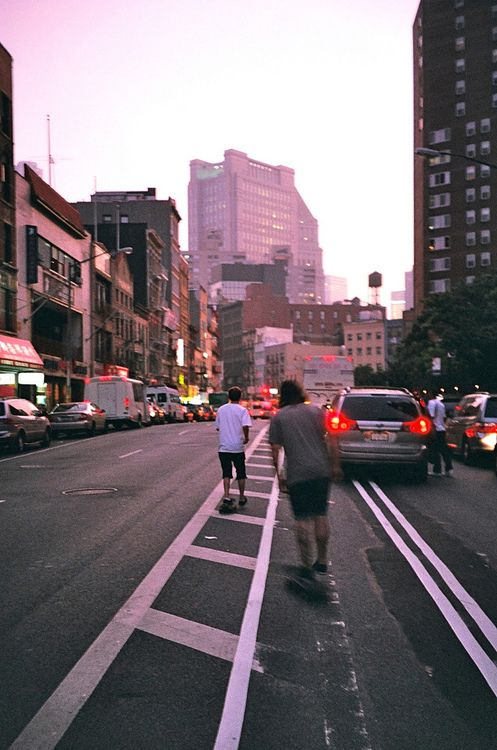 Skating down 6th avenue