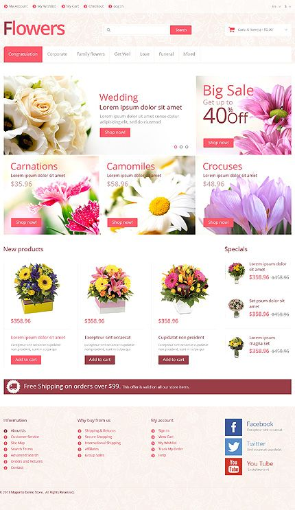 Blossom of Your Online Store: Top 40 Flower Shop Templates