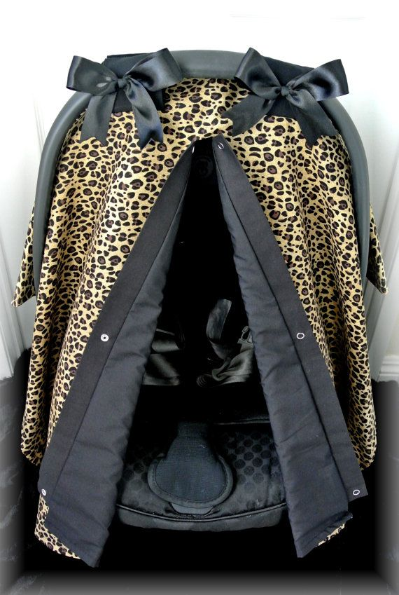 CHEETAH car seat canopy car seat cover leopard by JaydenandOlivia, $39.99