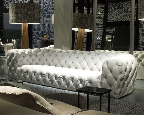 The Quilted White Leather Sofa By Baxter