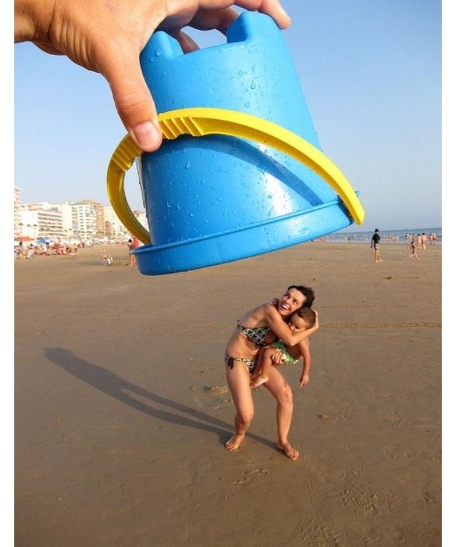 ¡Cambia tu perspectiva! Aprovecha el tiempo en la #playa para planificar #fotos tan divertidas como ésta