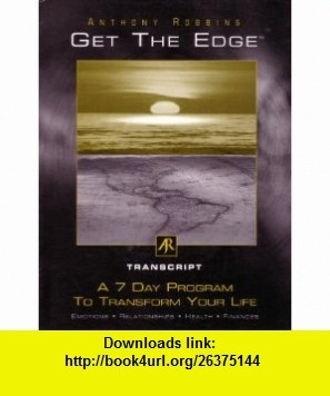 Anthony robbins get the edge personal journal pdf download