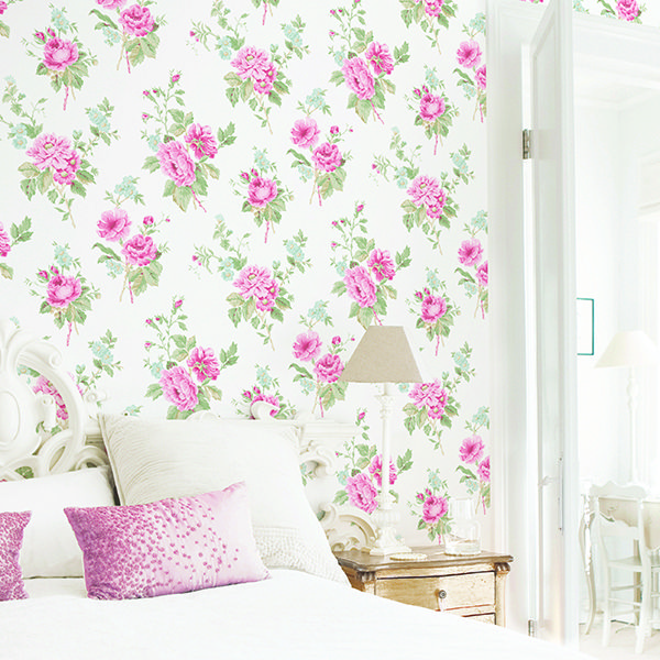...Despoke blog- featuring Galerie's Jardin Chic G67289 floral wallpaper (Free sample available)