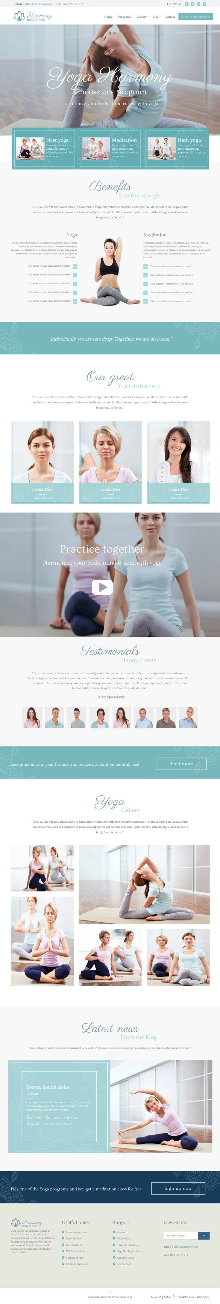 The Harmony Yoga Spa HTML #Template is a Bootstrap based creative, unique & modern one page, multi page and multi-purpose template. #yoga #website Download Now!