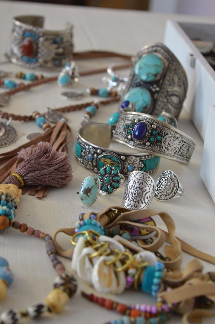 Boho style, vintage, tribal jewelry