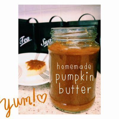 Pumpkin butter, Pumpkins and Homemade on Pinterest