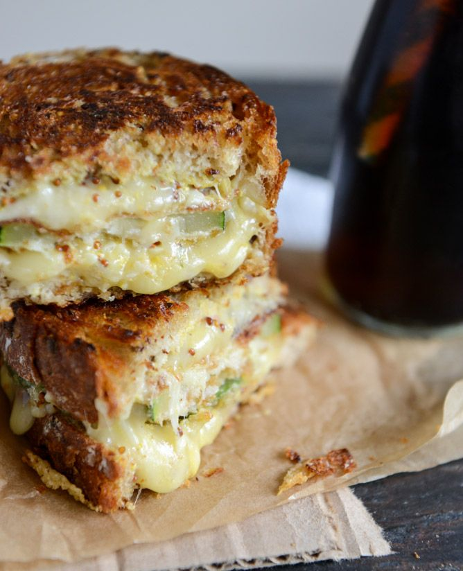 Zucchini grilled cheese.