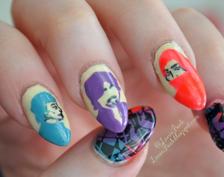What I used- Amy, Charlotte, Madison & Alexandra by Julep Top Coat by Seche Vite   Plate Pueen109