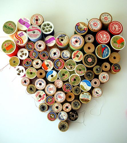this makes me regret throwing out all my Met pins... : Bottlecap, Wall Art, Thread Spools, Ideas, Crafts Rooms, Heart Art, Wooden Spools, Sewing Rooms, The Crafts