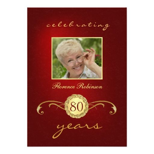 Best Red Gold Birthday Party Invitations Images On Pinterest - Red and gold birthday invitation templates