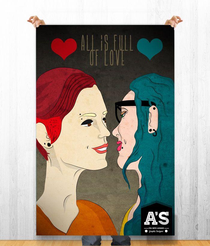 poster love is full