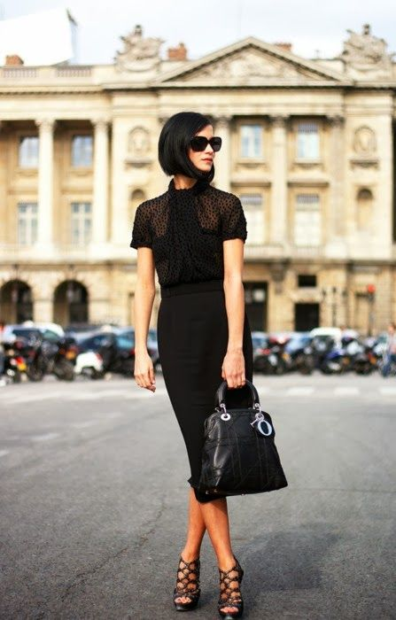 What a lovely dress! Want it I love the peekaboo lace and the lace up heels.