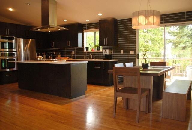 nice kitchen: Floors Plans, Espresso Cabinets, Nice Kitchens, Design Interiors, Kitchens Reno, Modern Kitchens, Open Floors, Seattle Kitchens, Islands Stoves