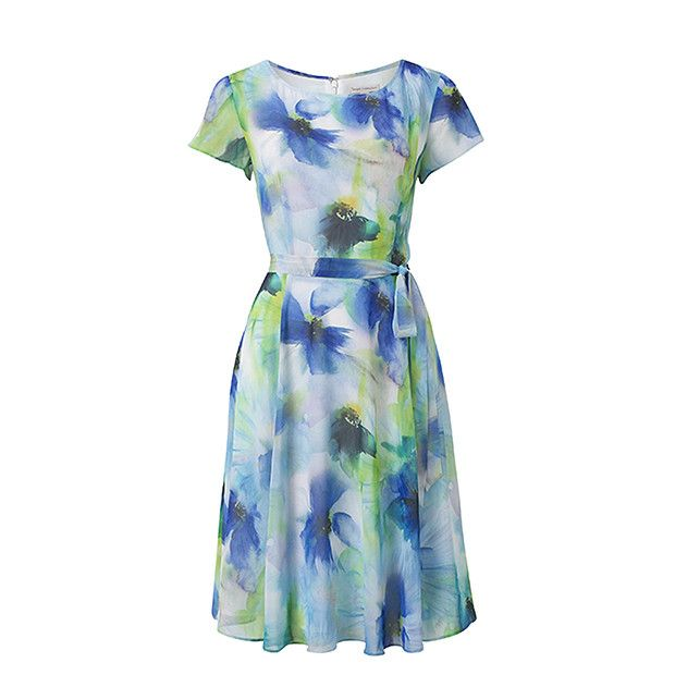 Fit & Flare Dress - Watercolour Floral