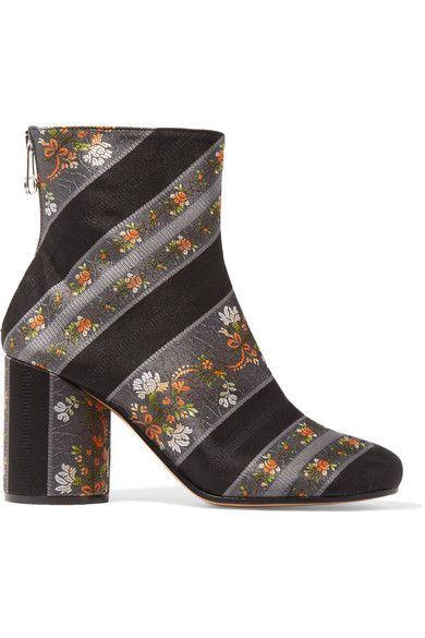 Maison Margiela - Jacquard Ankle Boots - Black - IT39.5