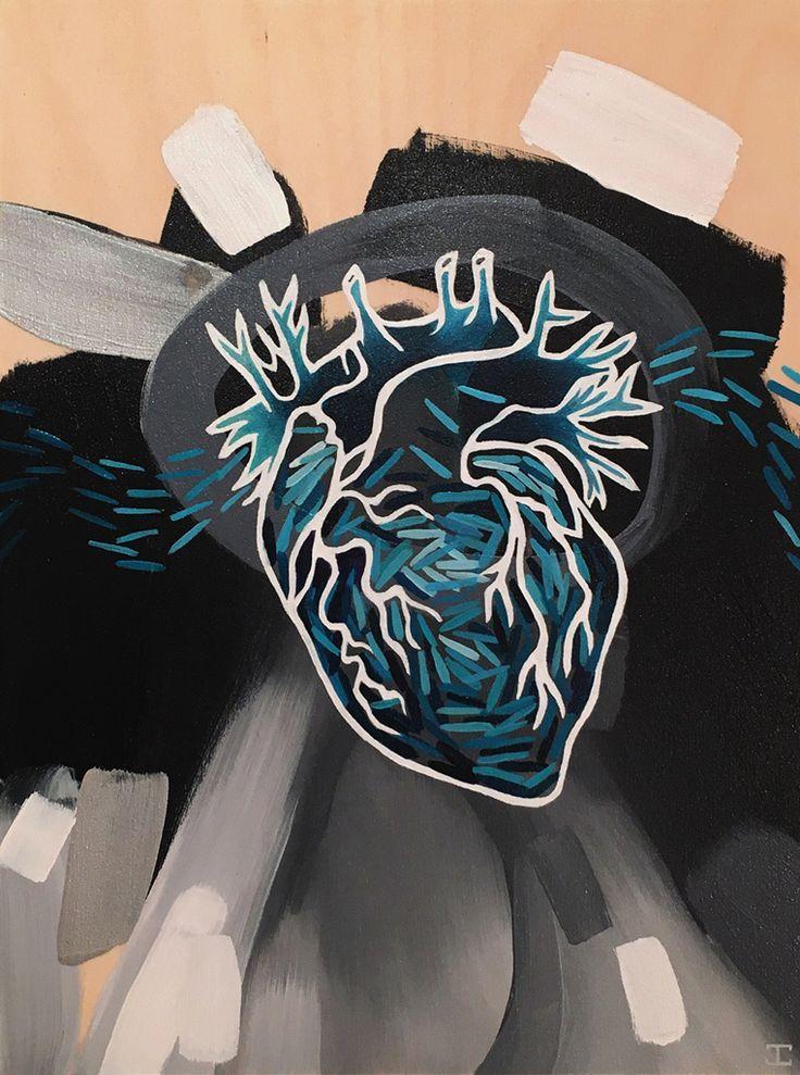 JENNIFER CLARK - Blue, 2016 12˝ × 9˝ Acrylic on Panel