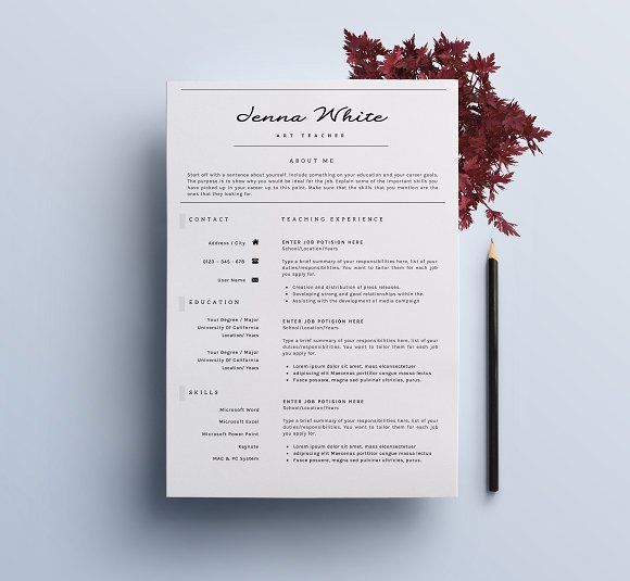 Professional Resume / Elegant CV-7 by SignatureResume on @creativemarket Professional printable resume / cv cover letter template examples creative design and great covers, perfect in modern and stylish corporate business design. Modern, simple, clean, minimal and feminine style. Ready to print us letter and a4 layout inspiration to grab some ideas. In psd, indd, docs, ms word file format. #resume #cv #template #professional #word #modern #creative #design