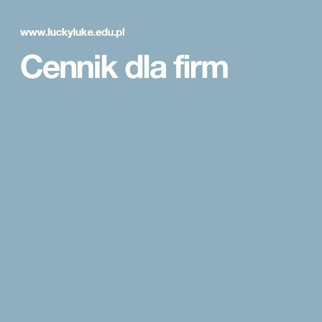 Cennik dla firm