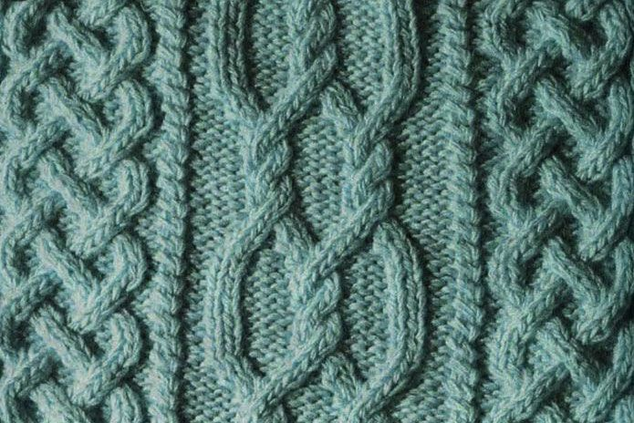Aran Cable Knitting Stitch. Great Celtic style cable knitting pattern, perfec...