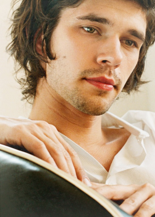 "Little bit like Tom, too. Partly that sweet ""protect me"" quality? Also could totally pull off winklepickers and mad socks. (Photo of Ben Whishaw.)"