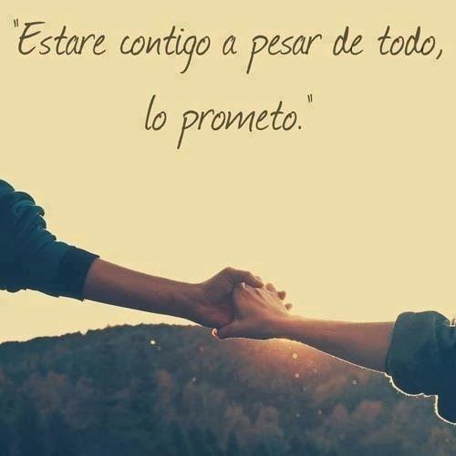 Lo prometo! Aunque te enamores con otra mas importante para ti... Siempre estare aqui y tu siempre en mis pensamientos...