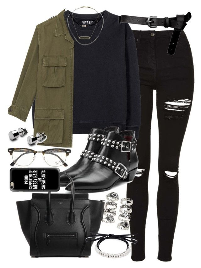 """""""Outfit for university with a tote bag"""" by ferned ❤ liked on Polyvore featuring Topshop, adidas Originals, Yves Saint Laurent, ASOS, Marc by Marc Jacobs, Forever 21, Ray-Ban, Fallon and Casetify"""