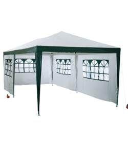 HOME Waterproof 3m x 6m Garden Gazebo with Side Panels.