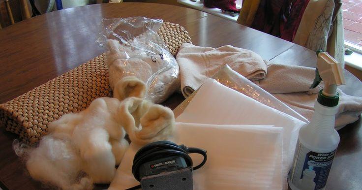 Permutations in Fiber: Using a Hand Held Sander for Wet Felting Tutorial