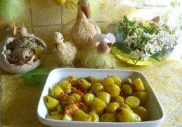 Aardappelkrieltjes in schil opgebakken met sjalot en paprika | Recept | KookJij