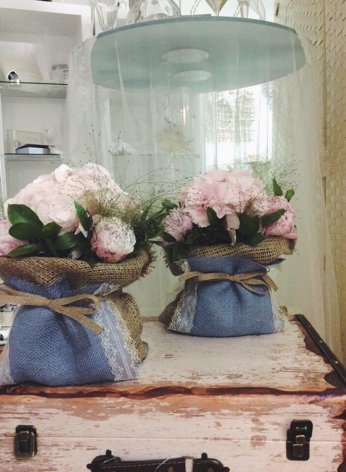 Ροζ Πεόνιες , ορτανσια