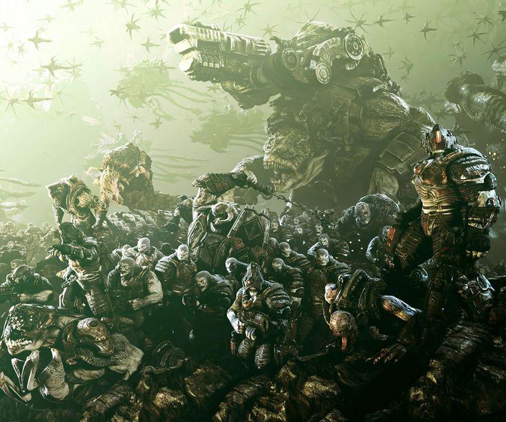 Gears of War 3 Locusts Reaver Kantus Grunts Boomers Brumak