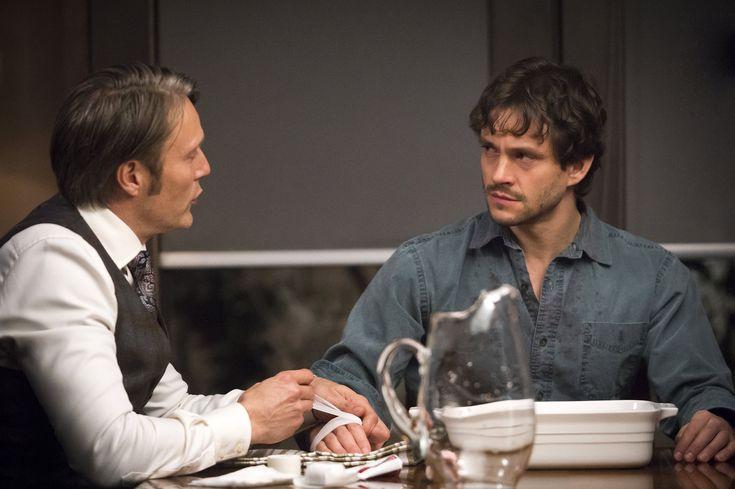 Mads Mikkelsen / Hannibal Lecter and Hugh Dancy / Will Graham - Hannibal BTS