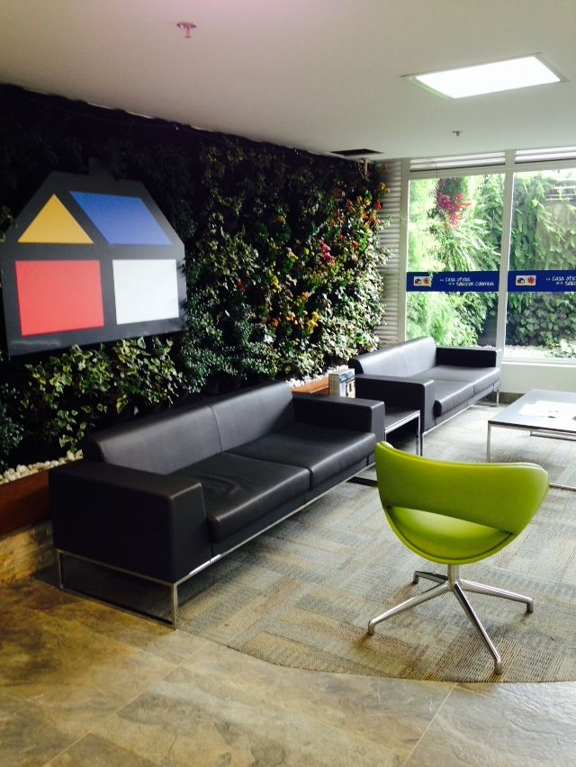 Interior living wall, Homecenter C80, Bogota Colombia