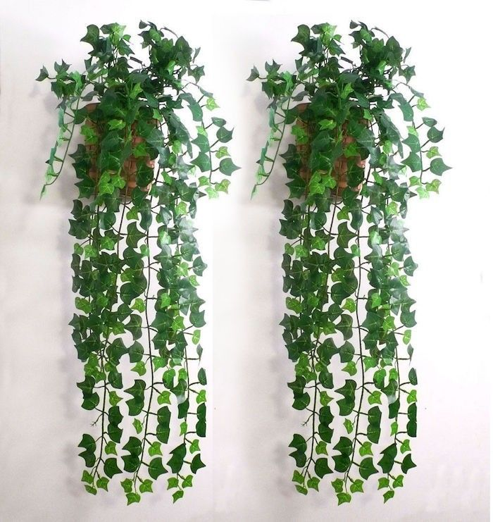 pot de lierre artificiel tombant pour une deco vegetale avec fausse plante artificielle