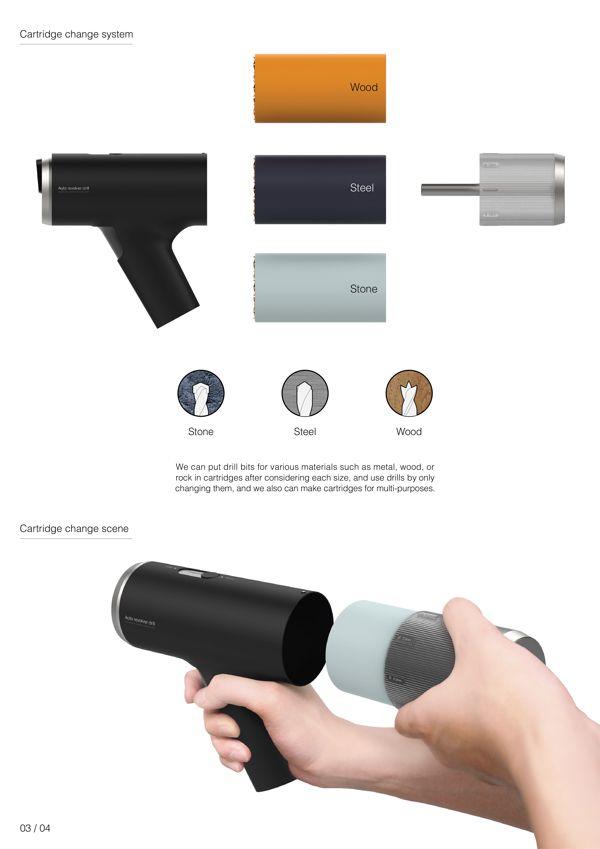 Auto revolver drill on Behance