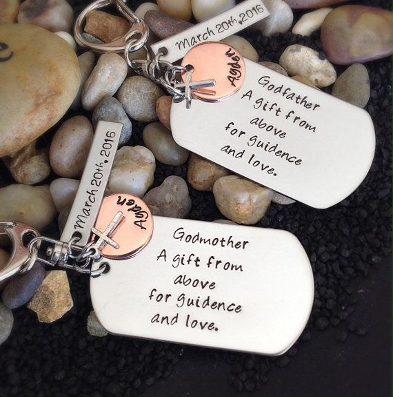 Godmother Gift Godfather Gift Baptism Gift For Godparents Christening Gift For Godparents Personalized Name And Date Key Chains Godfather Gifts Baptisms Godparent Gifts Godfather Gifts