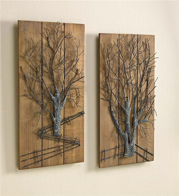 Metal Tree 2 Piece Wall Art Set