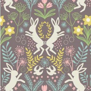 http://www.plushaddict.co.uk/lewis-irene-spring-hares-springtime-on-earth.html Lewis & Irene Springtime On Earth Cotton Fabric
