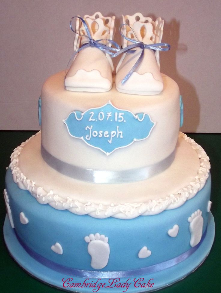 Christetnig cake for boy